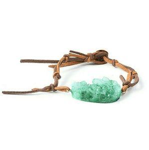 Jewelry - Green Drusy Quartz Dualtone Bracelet 60.00ctw